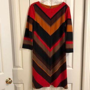 Gabby skye sz 12 3/4 length sleeve colorful dress